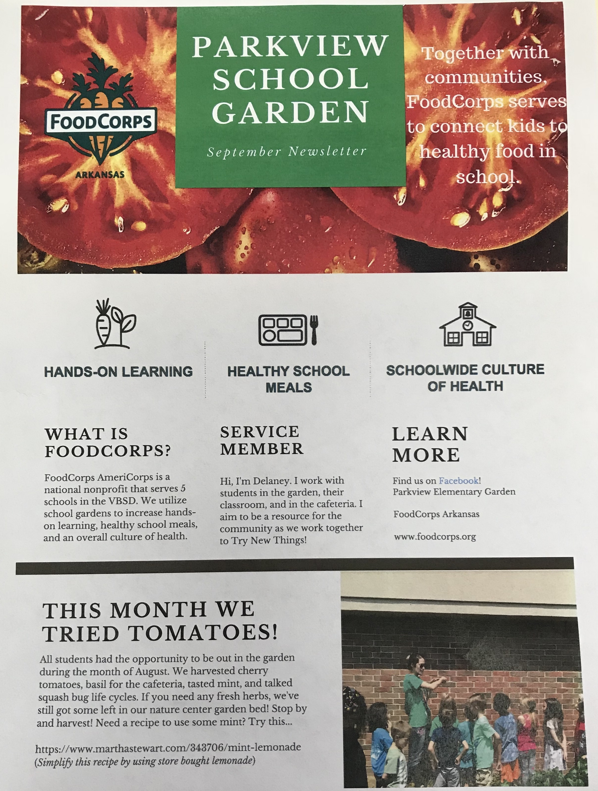 September Garden Newsletter