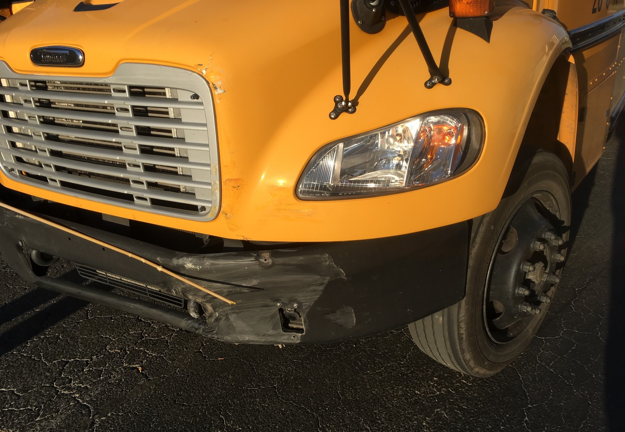 VBSD bus involved in minor accident