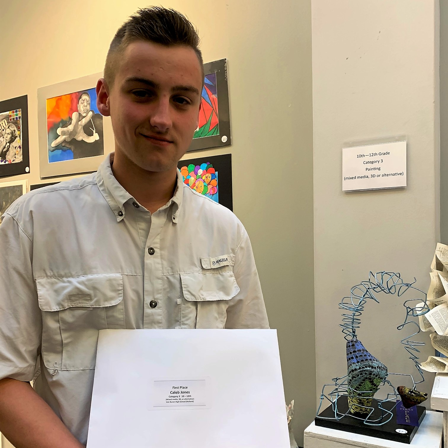 Pointers place at River Valley Student Art Competition