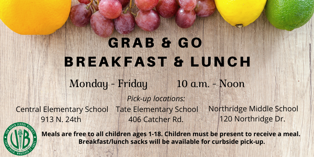 VBSD to serve grab and go meals
